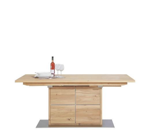 ESSTISCH Wildeiche massiv rechteckig Eichefarben - Eichefarben, Design, Holz/Metall (180/90/76cm) - Linea Natura