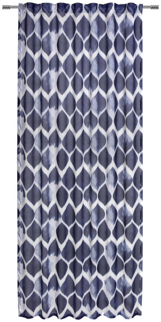 FERTIGVORHANG  halbtransparent  135/245 cm - Blau, KONVENTIONELL, Textil (135/245cm) - Esposa