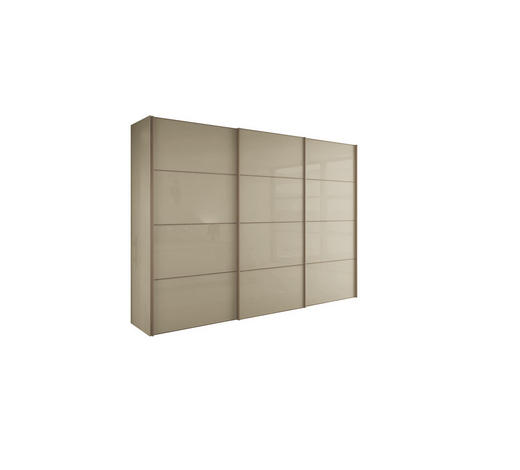 SCHIEBETÜRENSCHRANK in Sandfarben  - Sandfarben, Design, Holzwerkstoff/Metall (242/229,6/67,7cm) - Hülsta