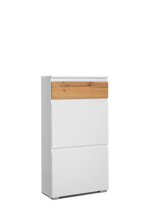 SCHUHKIPPER Eichefarben, Weiß - Eichefarben/Weiß, MODERN (58/109/25cm) - Carryhome