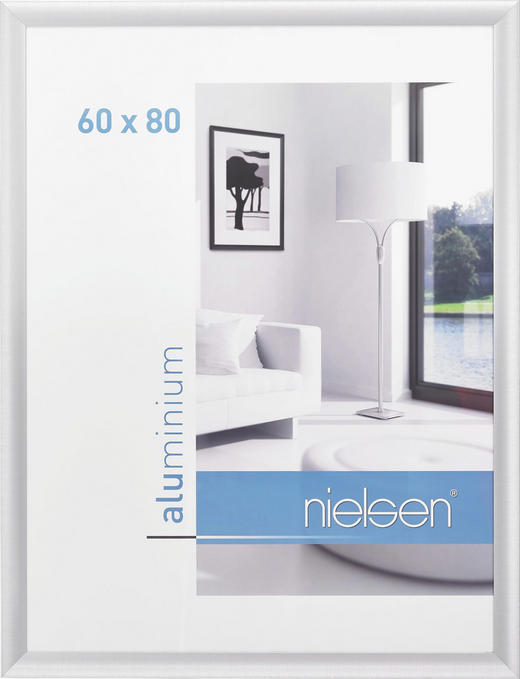 BILDERRAHMEN  Silberfarben - Silberfarben, Metall (60/80cm)