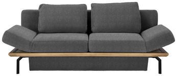SCHLAFSOFA in Holz, Textil Grau, Eichefarben  - Eichefarben/Schwarz, MODERN, Holz/Textil (234/90/102cm) - Dieter Knoll