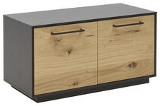 GARDEROBENBANK 86/45/40 cm  - Eichefarben/Anthrazit, Design, Holz/Metall (86/45/40cm) - Dieter Knoll
