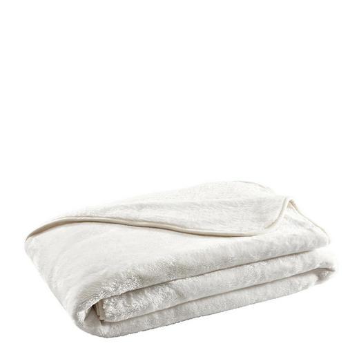 WOHNDECKE 180/220 cm Weiß - Weiß, Design, Textil (180/220cm) - Novel