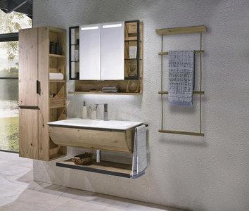 Badezimmer 3 Teilig Mit Echtholz Metall Shoppen