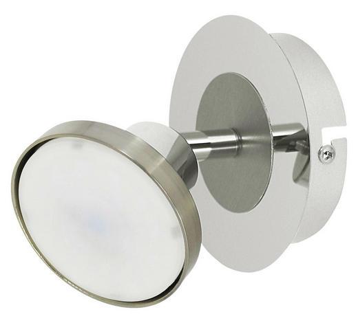 LED-STRAHLER - Chromfarben/Nickelfarben, Design, Metall (11/11,5cm)