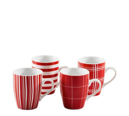 Kaffeebecherset 4 Teilig Keramik Porzellan Rot Online Kaufen Xxxlutz