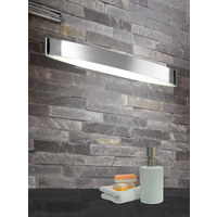 Badezimmer LED Wandleuchte - Chromfarben, Basics, Kunststoff/Metall (5,0/50,0/8,5cm)