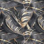 DEKOSTOFF per lfm blickdicht  - Goldfarben/Schwarz, Trend, Textil (140cm) - Esposa