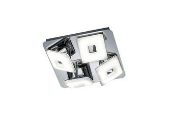 LED SVJETILJKA STROPNA - boje kroma, Design, metal/plastika (27,50/9,0/27,5cm)