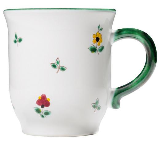 FRÜHSTÜCKSTASSE 300 ml - Grün, LIFESTYLE, Keramik (10/9/12cm) - Gmundner