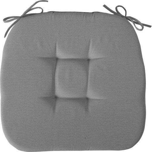 STUHLKISSEN Grau - Grau, Basics, Textil (41/41cm) - Novel