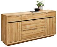 SIDEBOARD 180/86/42 cm - Chromfarben/Eichefarben, Design, Holzwerkstoff/Metall (180/86/42cm) - Hom`in