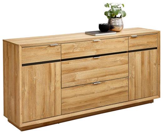 SIDEBOARD - Chromfarben/Eichefarben, Design, Holzwerkstoff/Metall (180/86/42cm) - Hom`in