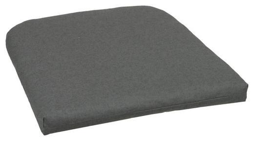 GARTENSITZKISSEN - Anthrazit, Design, Textil (47/46cm)