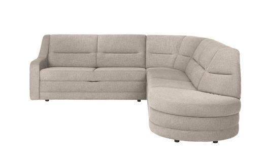 WOHNLANDSCHAFT - Beige/Schwarz, KONVENTIONELL, Kunststoff/Textil (251/285cm) - Sedda
