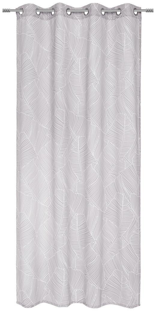 ÖSENVORHANG halbtransparent - Taupe, Design, Textil (135/245/cm) - Esposa