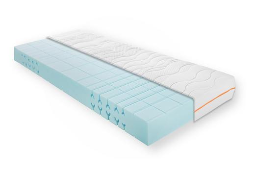 KALTSCHAUMMATRATZE 140/200 cm - Weiß, Design, Textil (140/200cm) - Carryhome