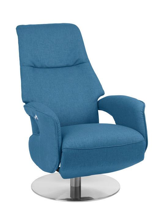 RELAXSESSEL Relaxfunktion - Chromfarben/Petrol, Design, Textil/Metall (68/109/78cm) - Welnova