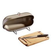 Wesco Breadboy Brotbox - Sandfarben/Silberfarben, Basics, Metall (28/43/22cm) - Wesco