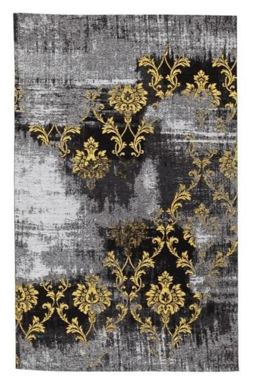 FLACHWEBETEPPICH  90/160 cm  Gelb, Grau - Gelb/Grau, Basics, Textil (90/160cm) - Novel