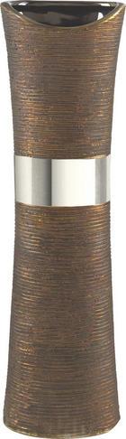 VÁZA - barvy stříbra/hnědá, Basics, keramika (39,5cm) - RITZENHOFF BREKER