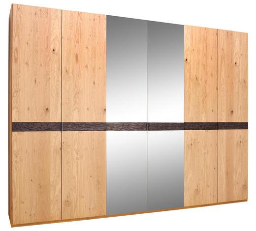 DREHTÜRENSCHRANK in furniert Balkeneiche Eichefarben - Chromfarben/Eichefarben, Natur, Holz/Holzwerkstoff (299,2/229,4/59,5cm) - Dieter Knoll