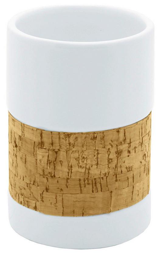 KELÍMEK - bílá/hnědá, Basics, dřevo/keramika (7/10,2/7cm) - Celina