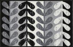 FUßMATTE 50/75 cm Graphik Grau, Schwarz, Weiß - Schwarz/Weiß, Basics, Kunststoff/Textil (50/75cm) - Esposa