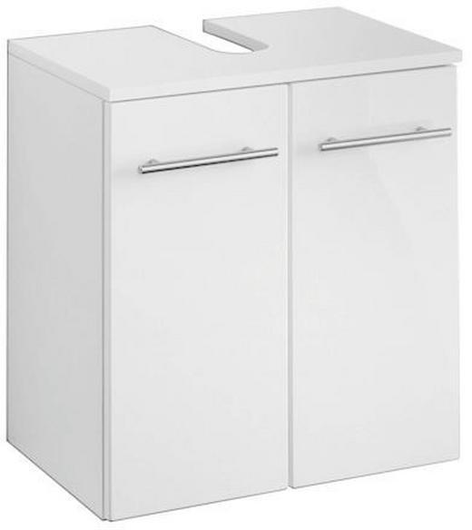 WASCHBECKENUNTERSCHRANK Weiß - Alufarben/Weiß, Design, Holzwerkstoff/Metall (50/53/34cm) - XORA