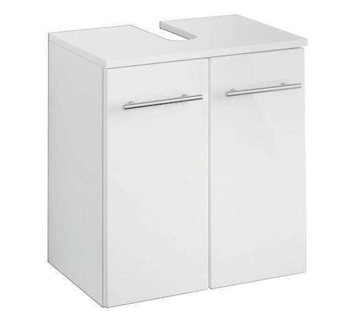 WASCHBECKENUNTERSCHRANK Weiß  - Alufarben/Weiß, KONVENTIONELL, Holzwerkstoff/Metall (50/53/34cm) - Xora