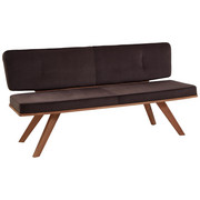 SITZBANK in Holz, Textil Braun, Eichefarben - Eichefarben/Braun, Natur, Holz/Textil (180/83/60cm) - Valnatura