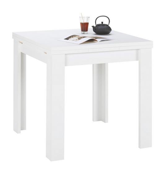 ESSTISCH quadratisch Weiß - Weiß, Design, Holzwerkstoff (80(136)/80/78cm) - Carryhome