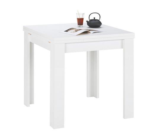 JÍDELNÍ STŮL, bílá - bílá, Konvenční, kompozitní dřevo (80(136)/80/78cm) - Carryhome