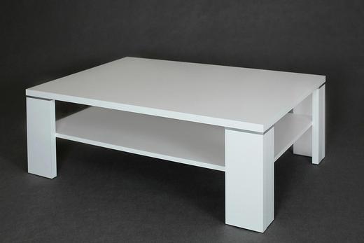 COUCHTISCH rechteckig Weiß - Weiß, Design (110/70/40cm) - Carryhome