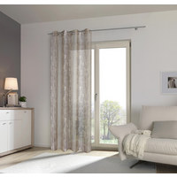 ÖSENVORHANG halbtransparent - Taupe, Design, Textil (140/245cm) - Esposa
