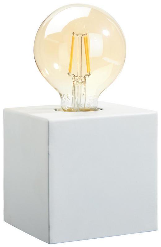 TISCHLEUCHTE - Weiß, Design, Metall (10/10/10cm)