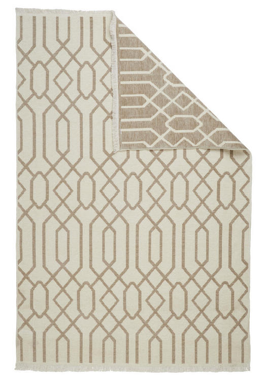 FLACHWEBETEPPICH - Beige/Braun, Design, Textil (120/170/cm) - Novel