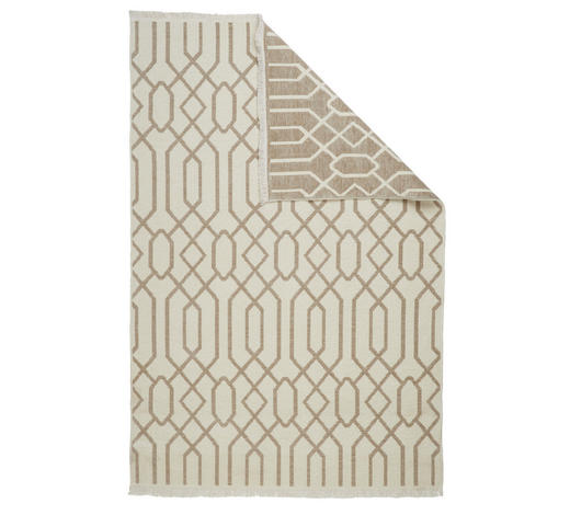 FLACHWEBETEPPICH - Beige/Braun, Design, Textil (120/170cm) - Novel