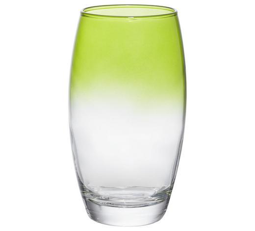 SKLENIČKA NA LONGDRINK - zelená/čiré, Trend, sklo (6,6/14,5cm) - Homeware