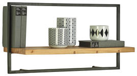 WANDREGAL 65/35/25 cm  - Schwarz/Akaziefarben, Trend, Holz/Metall (65/35/25cm) - Landscape