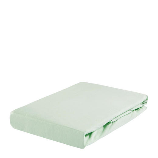 SPANNBETTTUCH Jersey Mintgrün bügelfrei, für Wasserbetten geeignet - Mintgrün, Basics, Textil (100/200cm) - Esposa