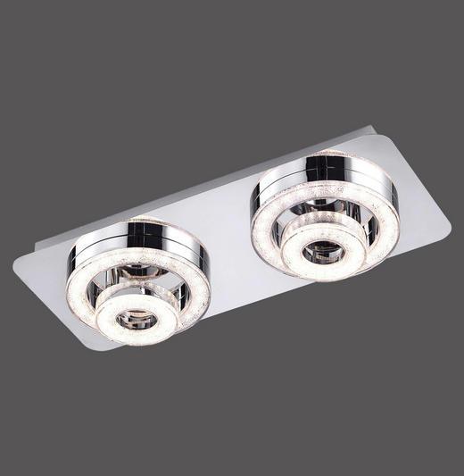 LED-DECKENLEUCHTE - Chromfarben, Design, Metall (40/17/13cm) - Novel