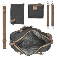 WICKELTASCHE - Schwarz/Weiß, KONVENTIONELL, Kunststoff/Textil (40,5/14/29cm)