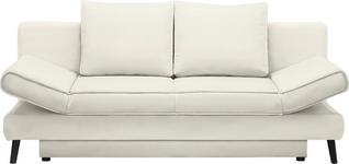 SCHLAFSOFA in Textil Naturfarben  - Schwarz/Naturfarben, Design, Textil/Metall (200/85/90cm) - Xora