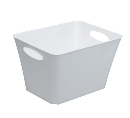 KOŠARA - bijela, Design, plastika (39,2/31/52,6cm) - Rotho