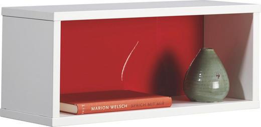 HÄNGEELEMENT Rot, Weiß - Rot/Weiß, Design (50/20,7/17,7cm) - Welnova