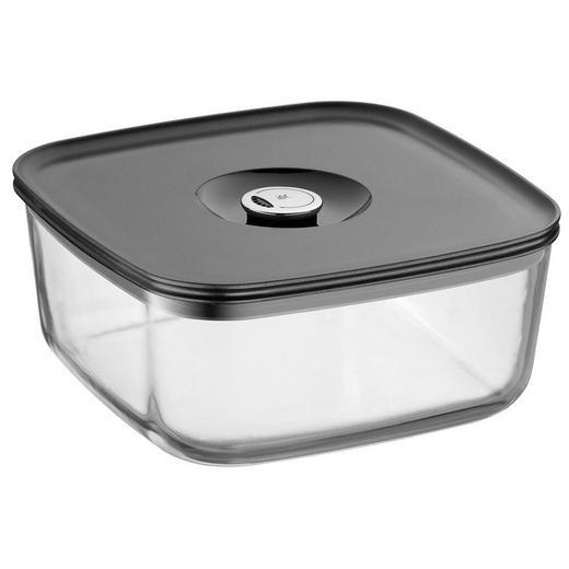 FRISCHHALTEDOSE - Klar/Schwarz, Basics, Glas/Kunststoff (22/22cm) - WMF