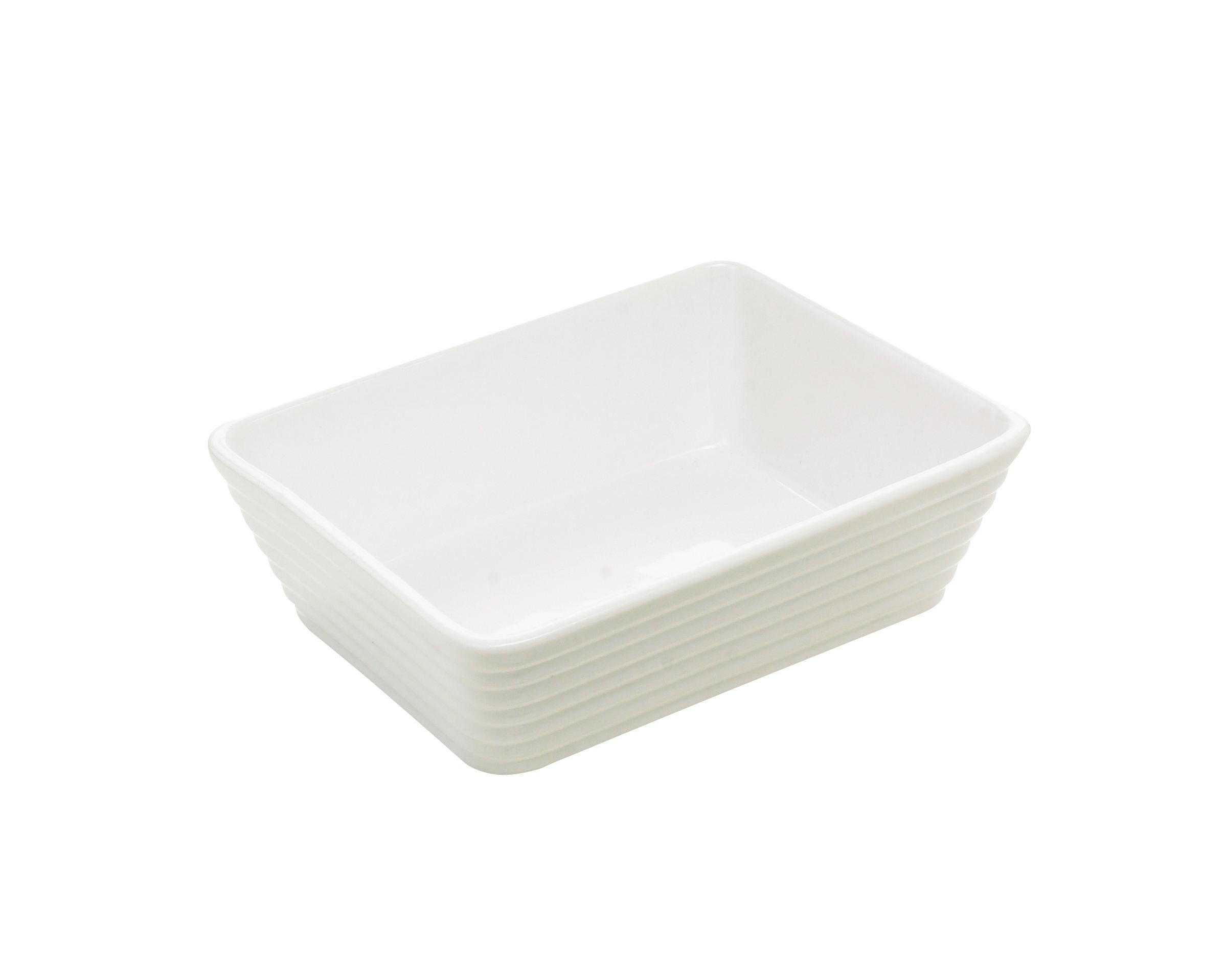 PEKAČ - bela, Konvencionalno, keramika (18/13,5/5cm) - HOMEWARE