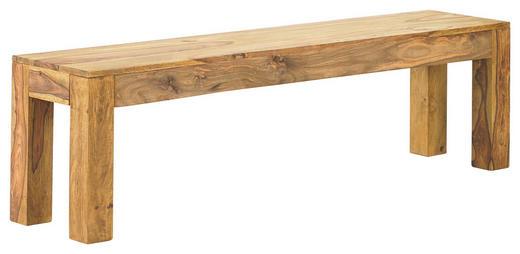 SITZBANK Sheesham massiv Sheeshamfarben - Sheeshamfarben, Design, Holz (160/45/35cm) - LINEA NATURA